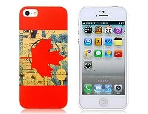 Flag Canadian National Patrón cocción final del estuche protector para iPhone 5