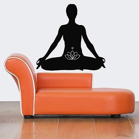 YuanMinglu Decoración de la Pared del hogar Yoga Meditación ...