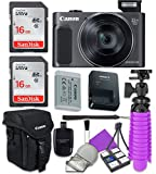 Canon PowerShot SX620 HS Wi-Fi Digital Camera (Black) with 2X Sandisk 16 GB SD Memory Cards + Tripod + Canon Case + Card Reader + Cleaning Kit