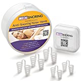 MediSnoring - Anti Snoring Nose Vent, Advanced Set of 5 Vents In 2 SIZES IN STORAGE CASE + FREE GIFT EXTRA TRAVEL CASE, Ease Breathing and Snoring Natural And Comfortable - Stop Snoring Instantly!