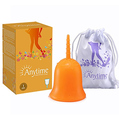 Fenleo Menstrual Cups with Free Bag - No 1 Economical Feminine Alternative Protection for Cloth Sanitary Napkins - The Original Authentic Cups - Small or Large Size