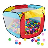 Vktech Play House Indoor and Outdoor Easy Folding Ball Pit Hideaway Tent Play Hut