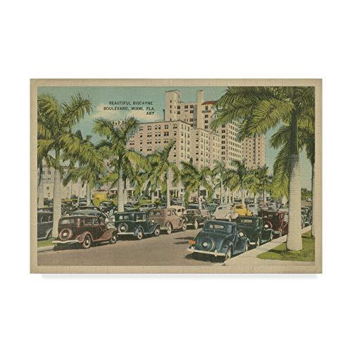 (Trademark Fine Art Miami Beach VII by Unknown, 12x19-Inch)