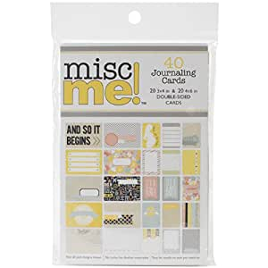 Bo Bunny Misc Me Journal Pack, 4 by 6-Inch and 3 by 4-Inch, Baby Bump