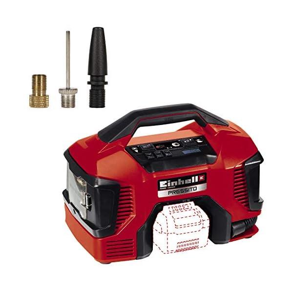 Einhell Compresor Híbrido Pressito Power X-Change (Li-Ion, con cable de corriente o batería recargable; incluye conjunto…