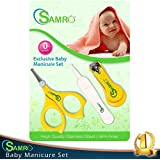 The #1 Rated Baby Nail Clippers Set with Scissors and Nasal Tweezer in the USA, Simple, Ergonomic and Versatile Unisex Toddler Grooming & Healthcare Kit and Shower Gift, Lifetime Guarantee! (Yellow)
