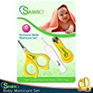 Top Rated Baby Nail Clippers Set with Scissors and Nasal Tweezer in the USA Simple Ergonomic Versatile Unisex Child Toddler Grooming & Healthcare Kit and Shower Gift (Yellow)