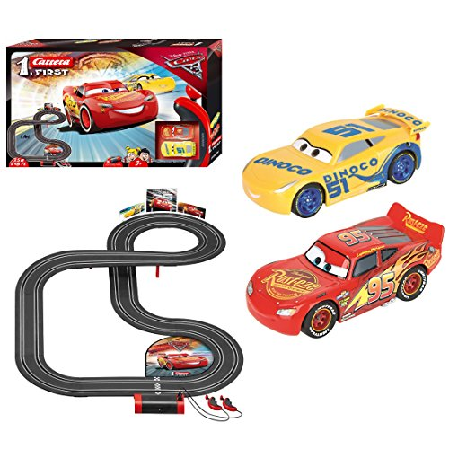 Carrera First 63011 Disney/Pixar Cars 3 Battery Operated Slot car Set