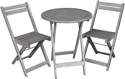 Juego de muebles de jardín | Mesa con 2 sillas | Muebles de balcón ...