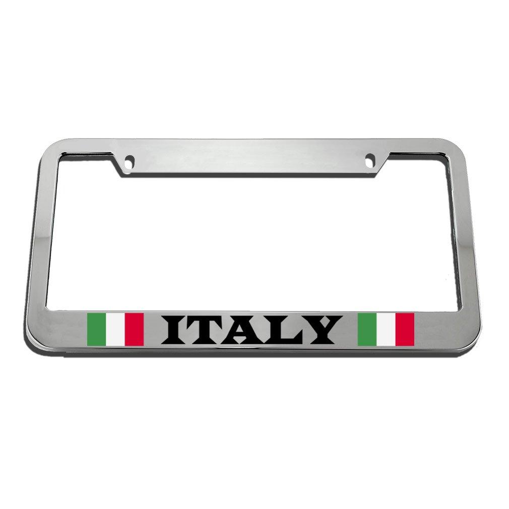 Speedy Pros Italy Italian Italiano Flag License Plate Frame Tag Holder