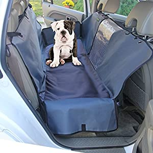 Drive Auto Products Car Seat Cover for Dogs by Best Pet Hammock for Car, Thick Canvas & Heavy Duty Clear Viewing Window - Waterproof Protection is Nonslip and Fits Almost Any Vehicle, Universal