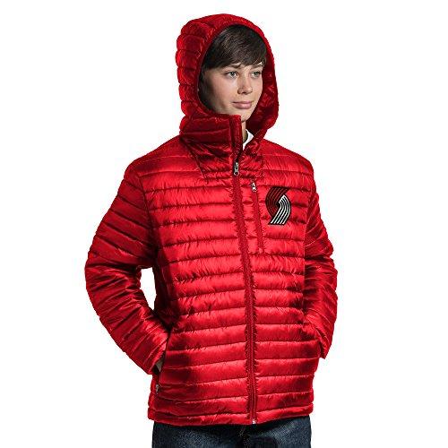 NBA Equator Steppjacke, jugendliche Jungen , Equator Quilted Jacket, rot, X-Large