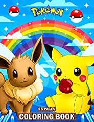 Pokemon Coloring Book: 55 Pages, Pokemon Coloring Book