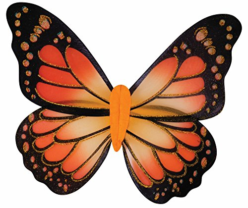 Forum Novelties 74722 Women's Butterfly Wings, (Orange Standard Wing)