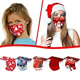 Renzhe 50pcs Christmas Disposable Face_Masks for