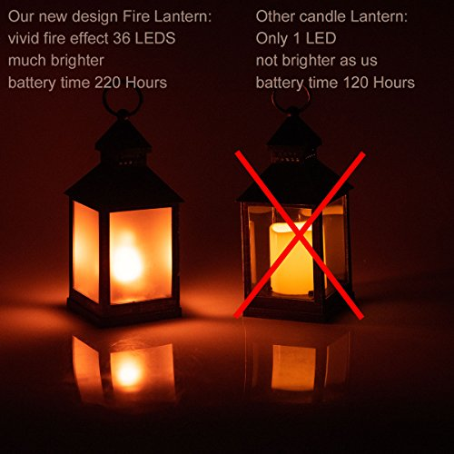 zkee-11-Vintage-Style-Decorative-LanternFlame-Effect-LED-LanternGolden-Brushed-Black4-Hours-Timer-Indoor-Lanterns-DecorativeOutdoor-Hanging-LanternDecorative-Candle-Lanterns