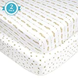 American Baby Company 2 Pack Printed 100% Cotton
