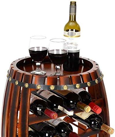 Support à vin décoration Baril de bière Baril de vin en Bois Affichage Baril de vin