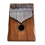 XOCOY EQ 17Keys EQ Kalimba Solid Acacia Thumb Piano Link Speaker Electric Pickup W/Bag
