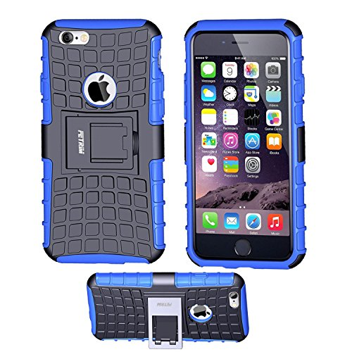 iPhone 6 Case,iPhone 6S Case,Fetrim Slim Fit Heavy Duty Protection Case Dual Layer Hybrid Shockproof Ultra Defender Protective Rubber Hard Cover for Apple iPhone 6 6S 4.7 Inch with Kickstand (Durable Stand)