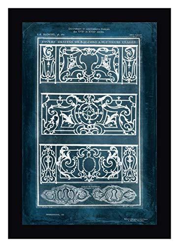 Ornamental Iron Blueprint I by Vision Studio - 23