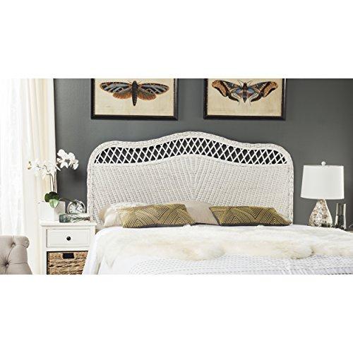 (Safavieh Home Collection Sephina White Rattan Headboard (Queen))