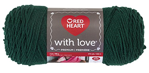Red Heart With Love Yarn, Evergreen ()