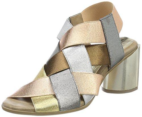 Mix96lam Copper Elastic Mujer Sandalias para Gold con Platinum Tobillo Wendy Correa NR Rapisardi de Multicolor 61xRff