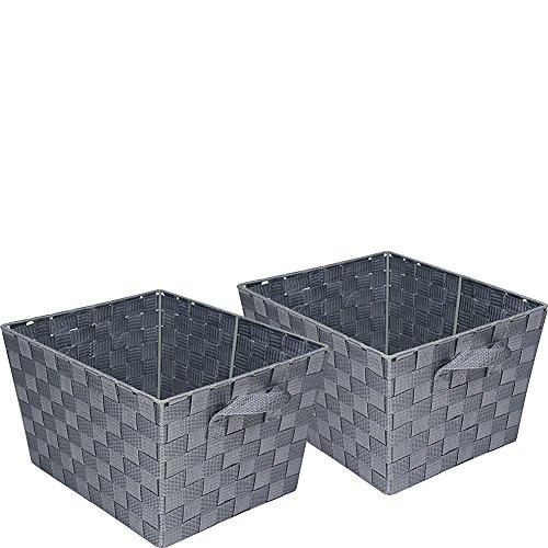 Honey Can Do Set Woven Baskets Silver