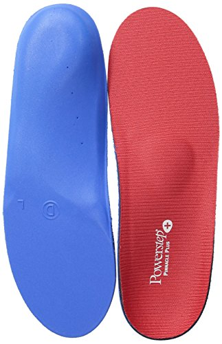 Powerstep Pinnacle Plus Met Insoles Sandal, Red/Blue, Men's 4-4.5/Women's - Run Women 4 All