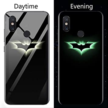 Feeke Estuche de teléfono de Vidrio Luminoso para Xiaomi ForRedmiNote4Global Batman: Amazon.es: Electrónica