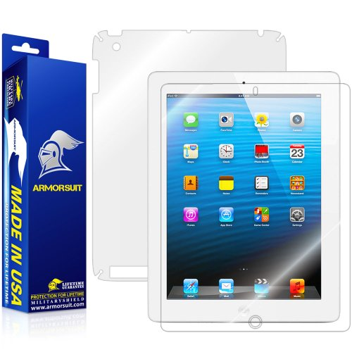 ArmorSuit iPad 2 Screen Protector MilitaryShield + Full Body Clear Skin MilitaryShield Back Film Protector For iPad 2 - HD Clear Anti-Bubble Film