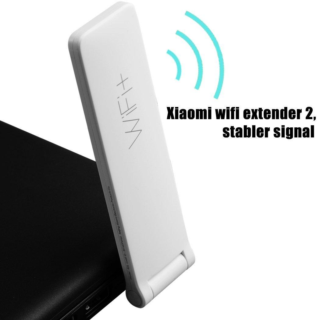 Anbee Extensor de Alcance WiFi de Tello Amplificador Xiaomi WiFi Repeater 2 Extensor WiFi 300Mbps 802.11n Wireless WiFi Signal Extender para Tello Drone: ...