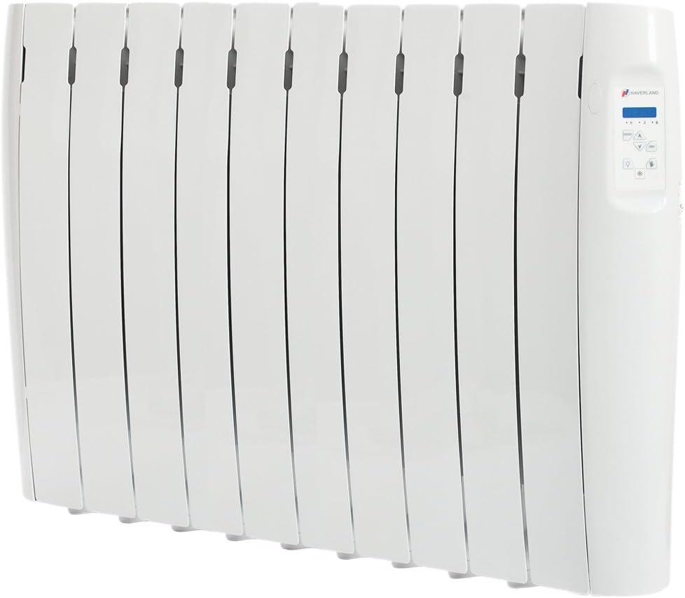 Haverland RC6M stanze di +//- 7-12 m/² indicatore di consumo Radiatore elettrico a fluido programmabile 750W uso ideale 1-6 ore//giorno