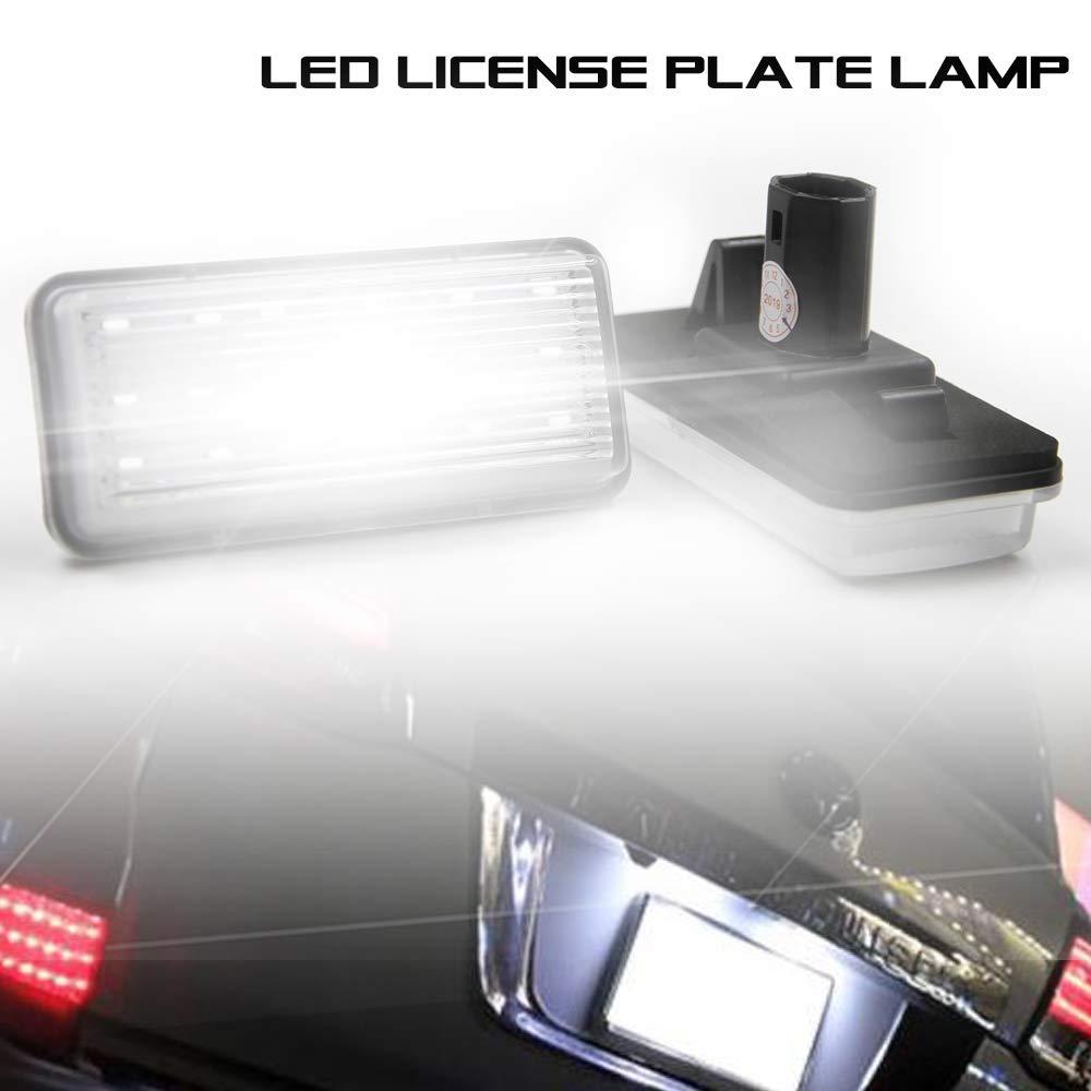 OEM-Fit Kit de luz LED para matr/ícula de 3 W para Land Cruiser Prado alimentado por 18 SMD Xenon blanco l/ámpara LED