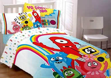 amazon com yo gabba gabba bedding set full brobee comforter and