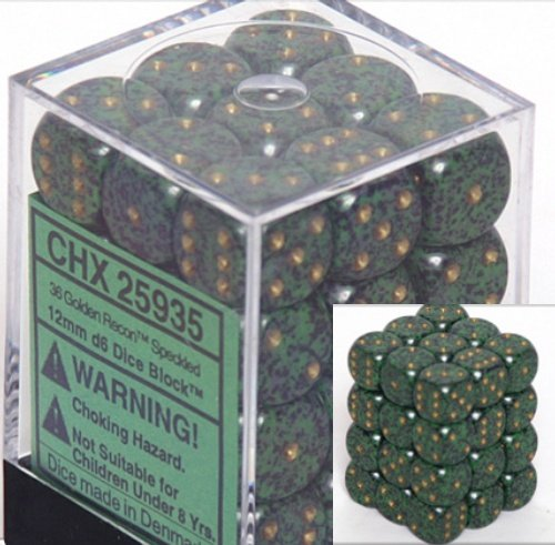 非常に高い品質 Chessex Speckled Dice Golden d6 Sets: of Golden Recon Speckled - 12mm Six Sided Die (36) Block of Dice B000RZN6CM, 北海道産食材のユウテック:b1f057dc --- cliente.opweb0005.servidorwebfacil.com