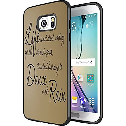 DOO UC(TM) Galaxy S7 Edge Case, Laser Technology for Protective Case for Samsung Galaxy S7 Edge Black Inspirational life Quote LifeDance Rain Sales