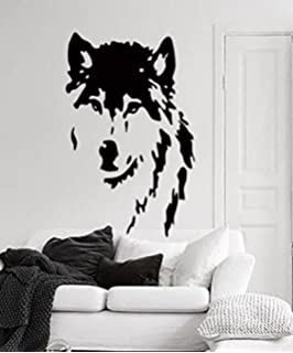 Amazoncom Newclew HUGE HOWLING WOLF Silhouette Removable Vinyl - Vinyl wall decals removable