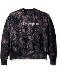 Champion Mens Scrunch Dye Reverse Weave Crew Sweatshirt