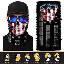 JOEYOUNG 3D Face Sun Mask, Neck Gaiter, Headwear, Magic Scarf, Balaclava, Bandana, Headband for Fishing, Hunting, Yard work, Running, Motorcycling, UV Protection, Great for Men & Women