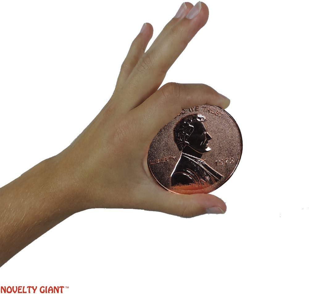 "Jumbo Classic Novelty Two Headed Magic Trick Lucky Penny 3/"""