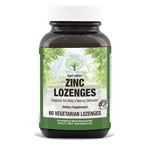 Zinc Gluconate Lozenges by Natural Nutra – Vitamin C Fortified, Lemon Flavor, 60 Count Defense Lozenges Vitamins