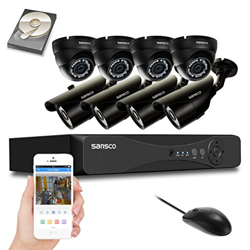 SANSCO CCTV Security Camera System with 8-Channel 1080P Smart DVR, (4) Bullet Cameras and (4) Dome Cameras (All HD 1080p 2MP), 2TB Internal Hard Drive Disk – All-in-One Video Surveillance Kit Review