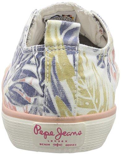 Pepe Jeans Industry Low Vett - Zapatillas de deporte Mujer Blanco / Negro / Oro