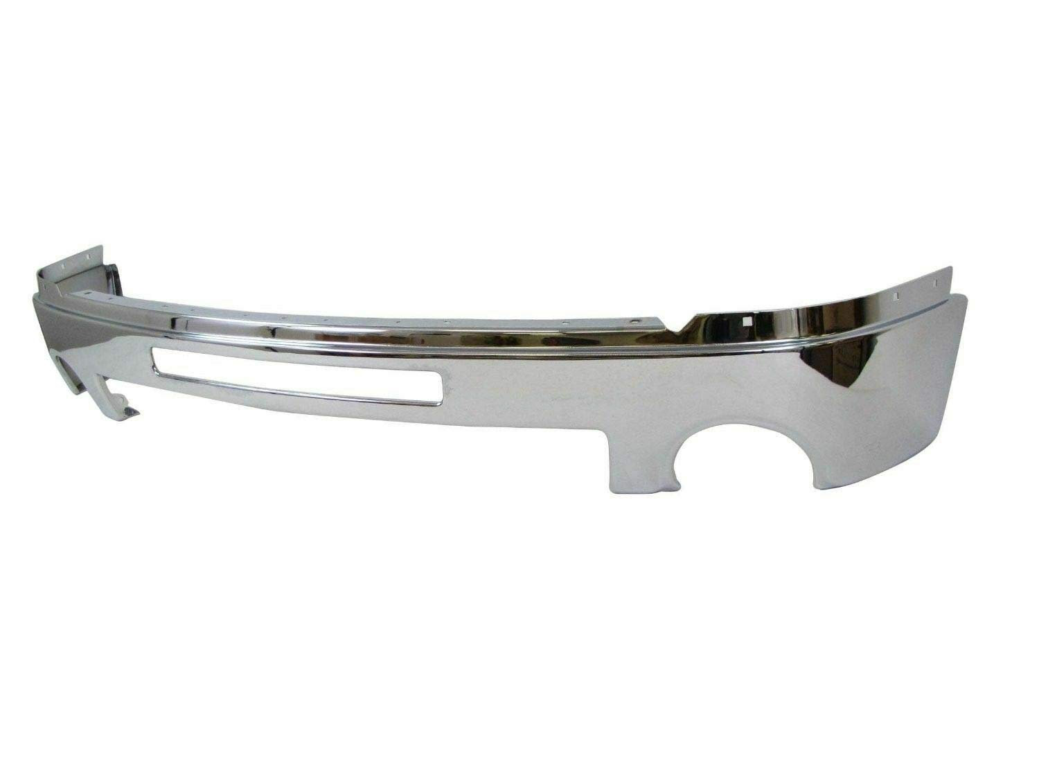 Front Chrome Bumper for 2007-2013 GMC Sierra 1500 SLE//SL//SLT Lower Valance with Intake Hole /& Fog Light Hole Without Brackets Direct Replacement Silver Set of 4 GM1002834 GM1015100 GM1092211 GM1065108