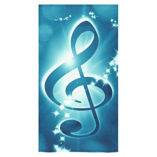 ADEDIY Fashion Custom Towel Music Note Bath Towel 30x56 Inch