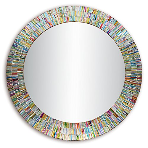 Bohemian Rainbow Rhapsody Wall Mirror -Glass Mosaic Decorative