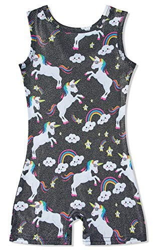 Girl'S Gymnastics Leotards Clound Unicorn Timeless Print Cute Cartoon Bling Bling Romper Gift For Sister Grandaughter (Dance Outfits For Juniors)