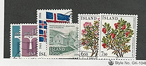 Iceland, Postage Stamp, #588-589, 591-594 Used, 594 Mint NH, 1984 - 594 Mint
